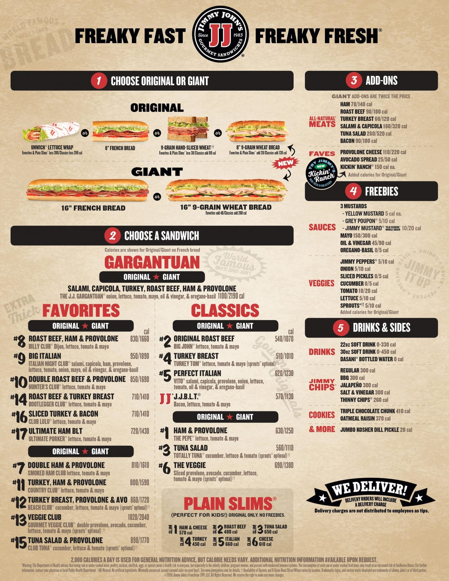 picture about Jimmy Johns Printable Coupons named Jimmy Johns Vitamins and minerals Energy